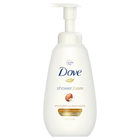 (2 pack) Dove Shea Butter with Warm Vanilla Shower Foam, 13.5 oz ()