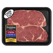 Beef Choice Angus New York Strip Steak Thin Cut 0.54-1.25 lb