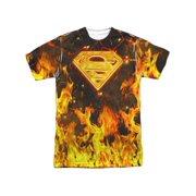 aa75288bb866b Superman Men s Fire Logo Sublimation T-shirt White