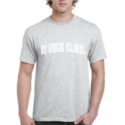 J_H_I VI US Virgin Islands Map Buccaneers Home University of the Virgin Islands  Mens Shirts