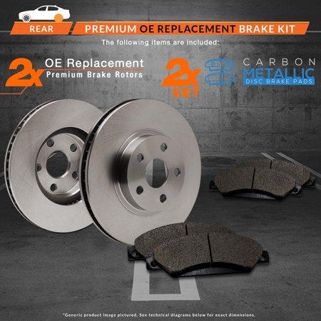 Max Brakes Rear Premium Brake Kit [ OE Series Rotors + Metallic Pads ] TA017742 | Fits: 1998 98 1999 99 2000 00 Nissan Maxima - image 4 de 8