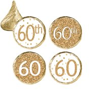 60th Birthday Party Favor Stickers 324ct