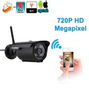 Floureon HD Wireless Outdoor Security WiFi 720p Night Vision Bullet Cameras, IP66 Weatherproof Video Surveillance