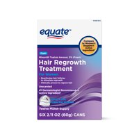 Equate Women's Minoxidil Foam for Hair Regrowth, 12-Month Supply