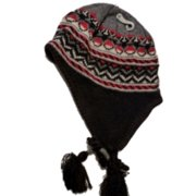 54f1919b3e7e8 Baileys Point Mens Black   Red Beanie Fleece Lined Aviator Hat Trapper