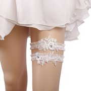 938213db2 2PCS Lace Garter Set Elegant Elastic Leg Ring Bridal Garter Prom Garter for  Wedding Party