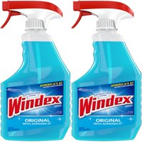 (2 Pack) Windex Glass Cleaner Trigger Bottle, Original Blue, 23 fl oz