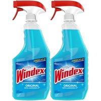 (2 Pack) Windex Glass Cleaner Trigger Bottle, Original Blue, 23 fl oz