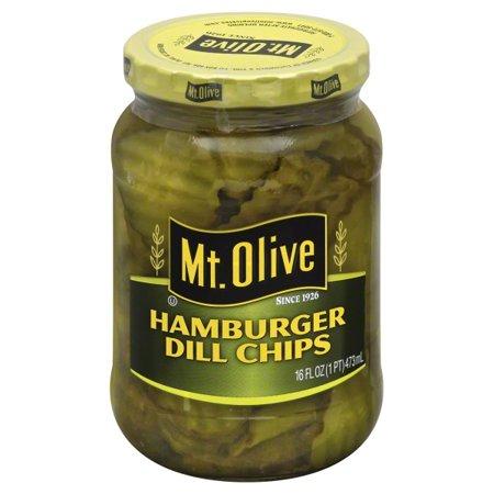 Got Pickles - (3 Pack) Mt. Olive Hamburger Dill Chips Pickles 16 fl. oz. Jar