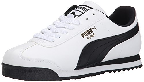Puma 353572-04: Men's Roma Basic Fashion White/Black Leather Sneaker (10 D(M) US Men)