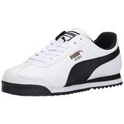 3a3f3b6c726 Puma 353572-04  Men s Roma Basic Fashion White Black Leather Sneaker (10