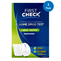 (3 Pack) First Check Home Drug Test, Marijuana