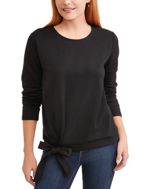 Women's Long Sleeve Side Tie Top