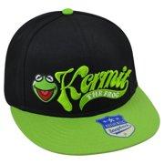 1af5ad43e5814 Muppets Disney Kermit Frog Flatbill Adjustable Snapback Two Tone Green Hat  Cap