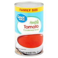 (4 Pack) Great Value Healthy Tomato Condensed Soup Family Size, 26 oz