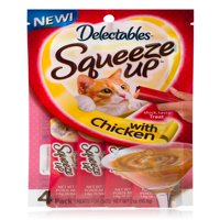 (8 pack) Delectables Squeeze Up Cat Treats Chicken, 32 Count