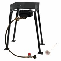 "King Kooker #CS14 - 25"" Tall Heavy Duty Portable Propane Single Burner Outdoor Cooker/ Camp Stove"