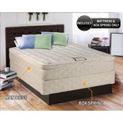 "Dream Solutions USA Brand Gentle Firm Pillowtop (Eurotop) Twin XL 39""x80""x10"" Fully Assembled Mattress and Box Spring set - Good for your back, Superior Quality, Orthopedic and Long lasting"