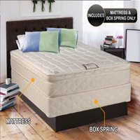 """Dream Solutions USA Brand Gentle Firm Pillowtop (Eurotop) Twin XL 39""""x80""""x10"""" Fully Assembled Mattress and Box Spring set - Good for your back, Superior Quality, Orthopedic and Long lasting"""