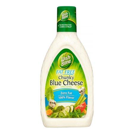 (3 Pack) Wish-Bone Fat Free Salad Dressing, Chunky Blue Cheese, 15 Fl (Fat Free Salsa)