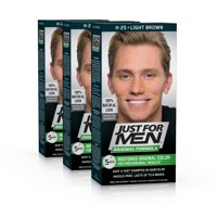 Just for Men Original Formula, Easy and Fast Shampoo-In Men's Hair Color, Light Brown, Shade H-25 (Pack of 3)