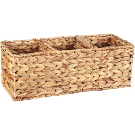 Better Homes & Gardens Woven Water Hyacinth Tank Basket, 1 Each