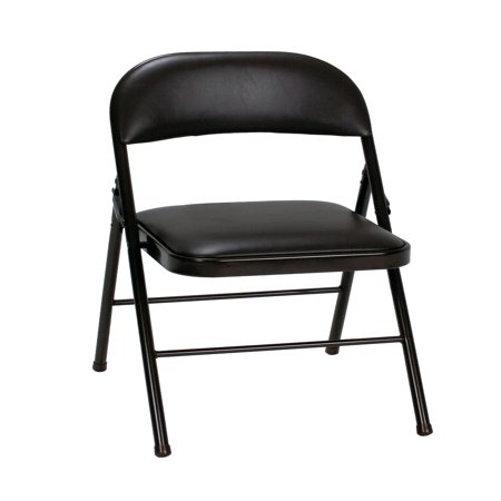 Cosco Vinyl Folding Chair (4-Pack), Black](Diy Folding Chair)