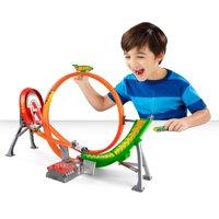 Hot Wheels Power Shift Raceway Track & 5 Race Vehicles Set