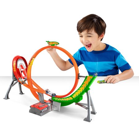 Hot Wheels Power Shift Raceway Track & 5 Race Vehicles Set (hot wheel race track electric)