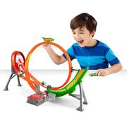 Hot Wheels Power Shift Raceway Track & 5 Race Vehicles Set