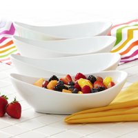 Better Homes & Gardens Oval Serving Bowls, White, Set of 4
