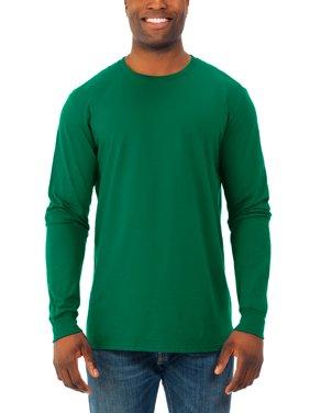 Men's Soft Long Sleeve Lightweight Crew T Shirt, 2 Pack