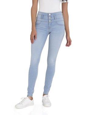 No Boundaries Junior's Super Soft Triple Stack Jeans