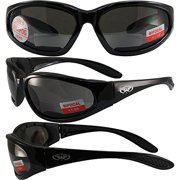 de21ea2cf22 Global Vision Hercules Padded Motorcycle Safety Sunglasses Black Frame +1.5  Magnification Smoke Lens