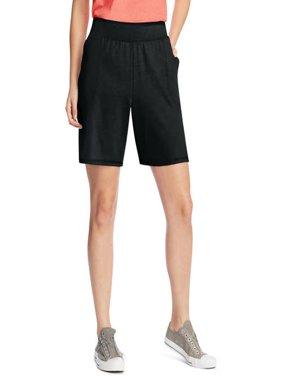 Women's Plus Size Jersey Pocket Short