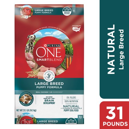 Purina ONE Natural Large Breed Dry Puppy Food, SmartBlend Large Breed Puppy Formula - 31.1 lb.