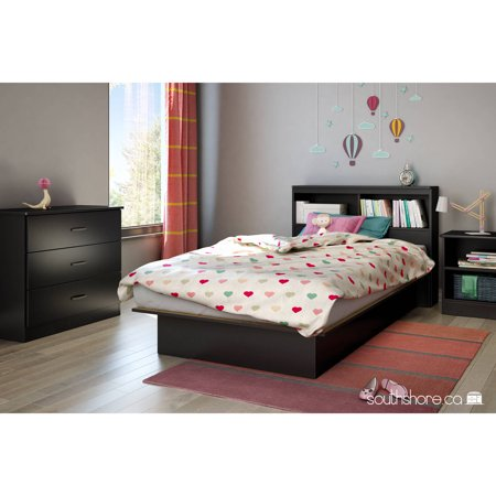 Kids Mansion Bed - South Shore Smart Basics Twin Platform Bed, 39'', Multiple Finishes