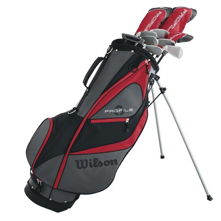 Wilson Profile XD Men's RH Flex Graphite Steel Long Golf Club Set and Stand Bag