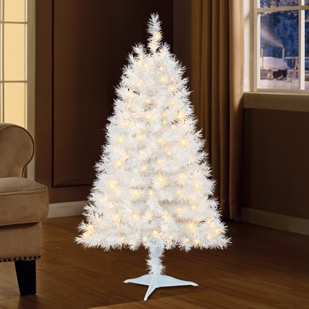 Holiday Time 4ft Pre-Lit Indiana Spruce Artificial Christmas Tree with 105  Clear Lights - - Holiday Time 4ft Pre-Lit Indiana Spruce Artificial Christmas Tree