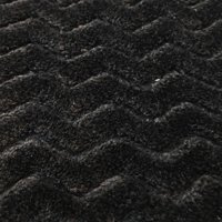 """RTC Fabric Black 100 Percent Polyester Fleece for Blankets, Apparel and Nursery, Zigzag Pattern, 60"""", 255GSM"""