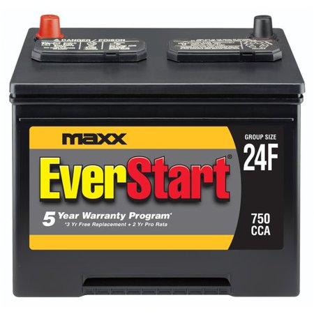EverStart Maxx Lead Acid Automotive Battery, Group Size 24F