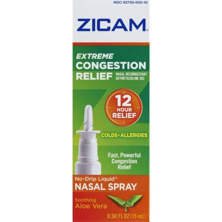 Nasal Gel Pump - Zicam Extreme Congestion Relief No-Drip Liquid Nasal Gel, 0.5 Ounce
