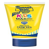 Banana Boat Kids Max Protect & Play Sunscreen Lotion SPF 100, 4 Oz - Packaging May Vary