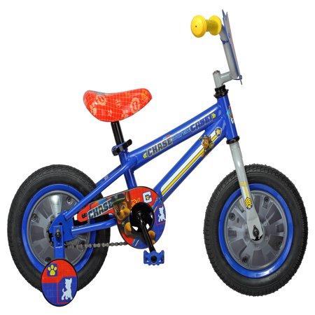 Nickelodeon Paw Patrol Chase Kids Bike, 12 inch wheel, training wheel, ages 2 - 4, blue, boys, girls