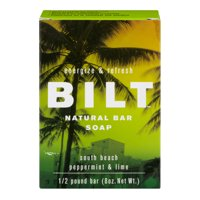 Bilt Natural Bar Soap South Beach / Peppermint & Lime, 8.0 OZ