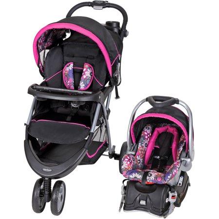 Baby Trend EZ Ride 5 Travel System, Floral Garden (Baby Trend Storage)
