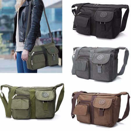 Men's and Women's Casual Large Handbag Shoulder Bag Cross body Messenger Bag Nylon Bag