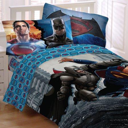 Store51 Llc 18082816 Batman Vs Superman Bedding Set Worlds Finest Heroes Comforter And Sheet Set