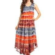826f944e05 Sakkas Desert Sun Caftan Dress / Cover Up - Grey / Coral - One Size