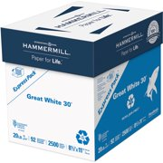 Hammermill, HAM67780, Great White Recycled Copy Paper, 2500 / Carton, White